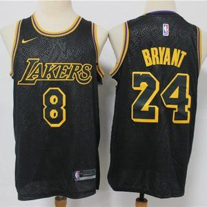 LA Lakers Mamba 8-24 Kobe Bryant NBA black